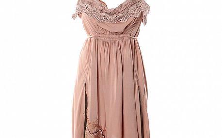 Dámske ružové romantické šaty s černými trakmi Angels Never Die