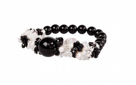Dámsky čierno-biely onyxový náramok Arla