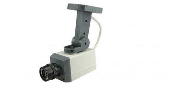Chraňte svůj dům před zloději!! Tato pohyblivá atrapa kamery s pohybovým čidlem je odradí!