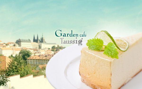 Pouhých 95,- Kč za 2x TVAROHOVÝ DORT a 2x ESPRESSO nebo nealko nápoj v tréninkové kavárně Garden café Taussig! Příjemnou kavárnu, s jedinečným sociálním programem, najdete pod Petřínem s výhledem na Pražský hrad a zahrady!