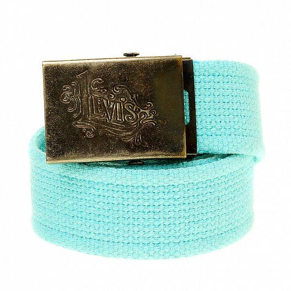 Dámský světle modrý textilní pásek Levi´s