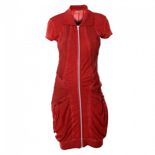 Dámske tehlovo červené šaty Angels Never Die