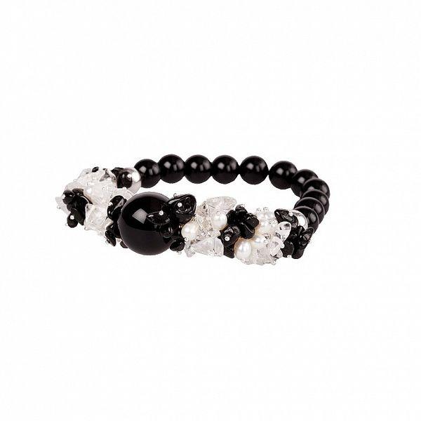 Dámský černo-bílý onyxový náramek Arla