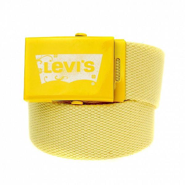 Svetlo žltý textilný opasok Levi´s