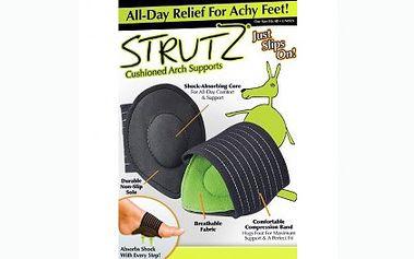 Podpora na chodidla Comfort Strutz za 79 Kč. Tato chytrá pomůcka podporuje a pomáhá absorbovat nárazy při každém kroku a ulevíte bolesti klobů u nohou.
