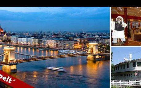 Budapešť s ubytováním na Dunaji! Luxusní hausboat (BOTEL HOTEL LISA 3*) na 4 dny pro 2-3 osoby v přírodní rezervaci Soroksári Dunaág, 15 minut od centra metropole...jen za 999,- Kč