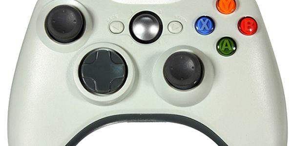 Bezdrátový ovladač pro Microsoft Xbox 360 bílý a poštovné ZDARMA! - 2202986