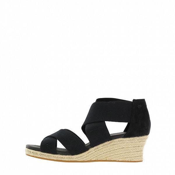 Dámské černé sandálky na klínku Flip Flop
