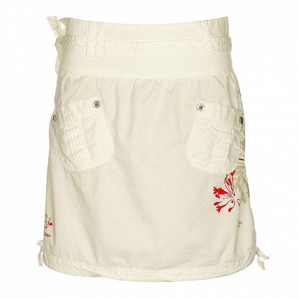Dámska biela sukňa Loap s potlačou