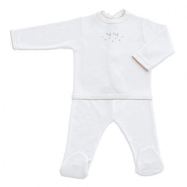 Dětský bílý kojenecký set s motivem hvězdiček Naf Naf