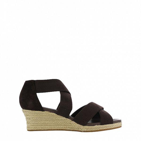 Dámské hnědé sandálky na klínku Flip Flop