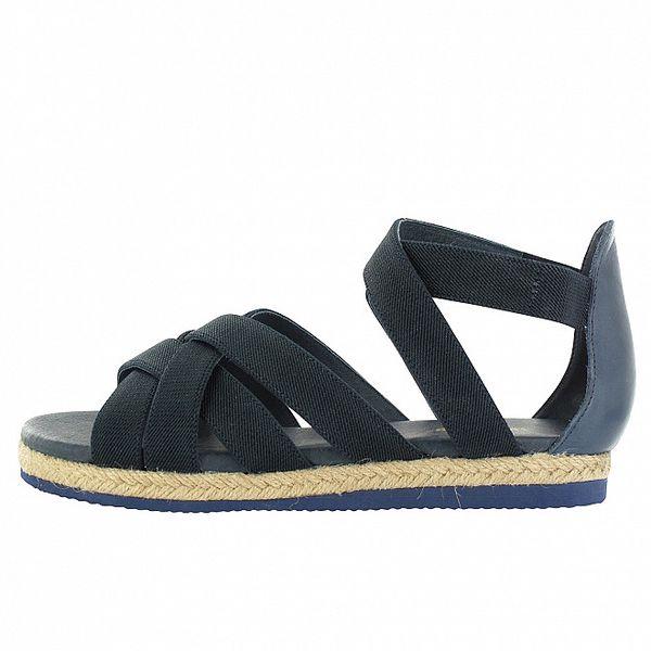 Dámské tmavě modré sandály Flip Flop s jutovým lemem