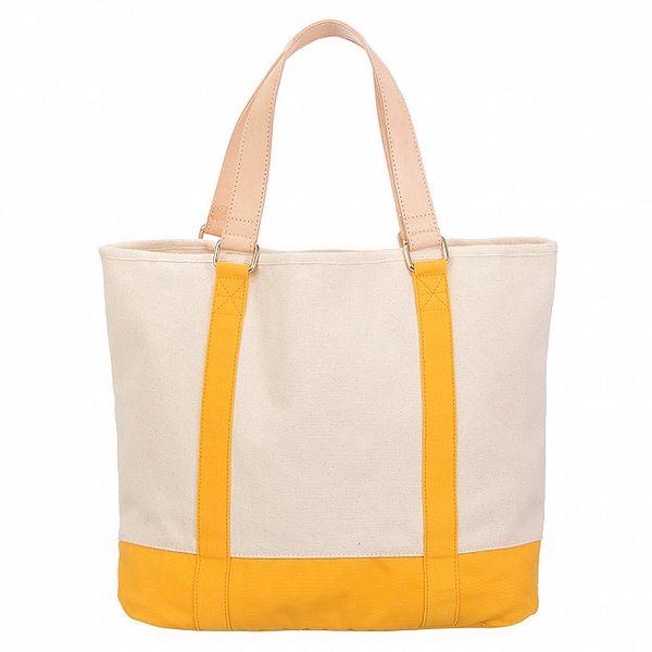 Dámská béžovo-oranžová canvas kabelka Flip Flop
