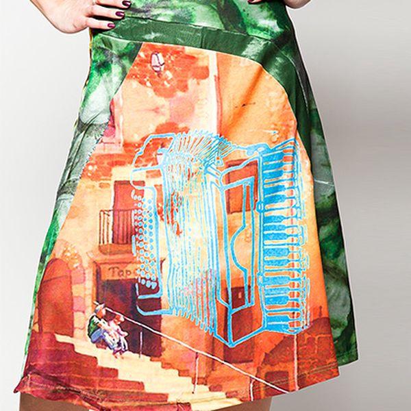 Zelená sukně Steps