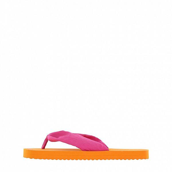 Dámske oranžovo-ružové žabky Flip Flop