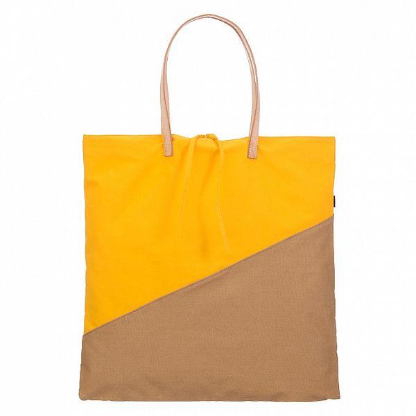 Dámska žlto-béžová canvas taška Flip Flop