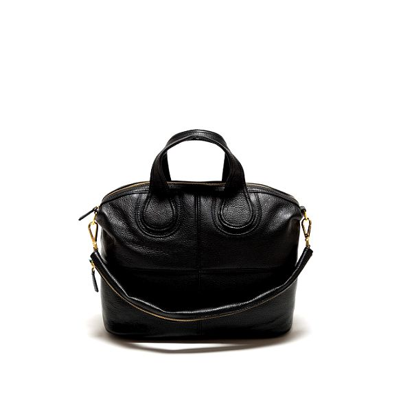 Dámska čierna kabelka so zlatými detailami Renata Corsi