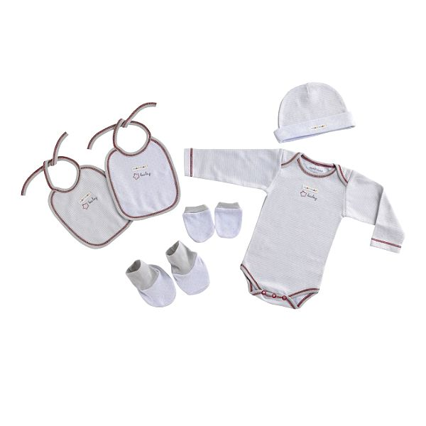 Bílý novorozenecký set Naf Naf - 6 ks