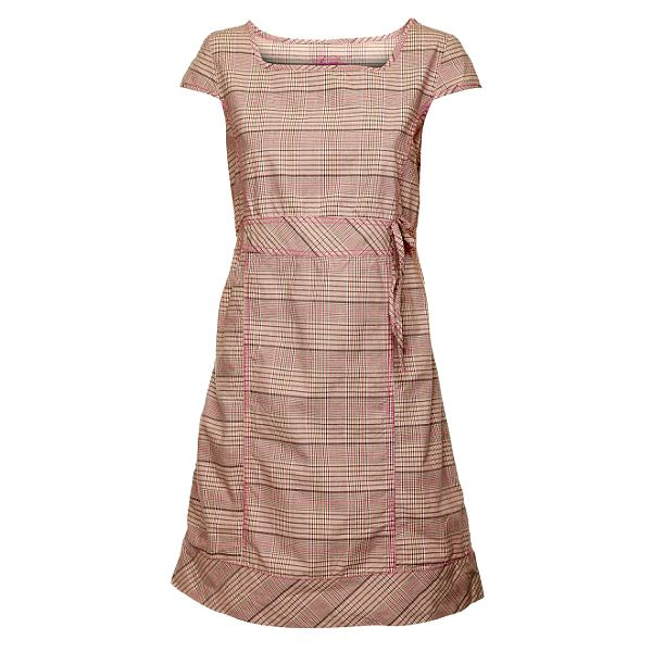 Dámské růžové kostkované šaty Loap