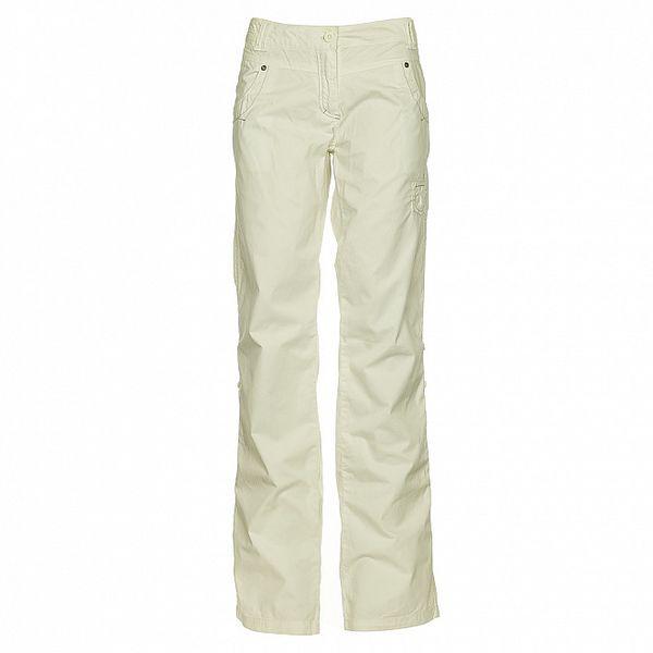 Dámske biele bavlnené nohavice Loap