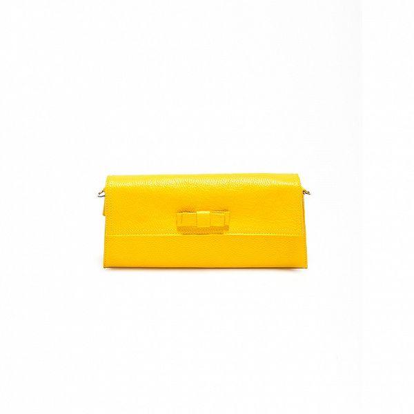 Dámska kanárikovo žltá kožené kabelka Renata Corsi