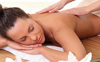 Klasická masáž chrbta a šije alebo relaxačná masáž