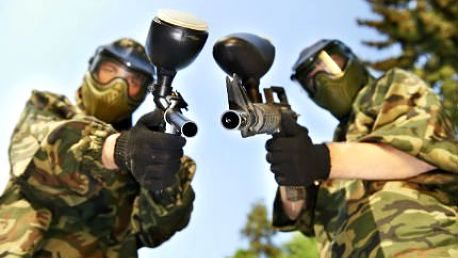 3 hodiny paintballu v Brně - maska, zbraň i instruktor
