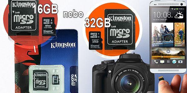 Micro SD paměťová karta s kapacitou 16GB nebo 32GB do telefonu, MP3, fotoaparátu, GPS.