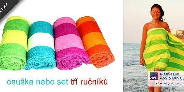 Ideální záležitost na léto - rychleschnoucí osuška nebo set tří ručníků ! Nejen, že má až třikrát větší savé schopnosti, ale navíc i rychle schne!