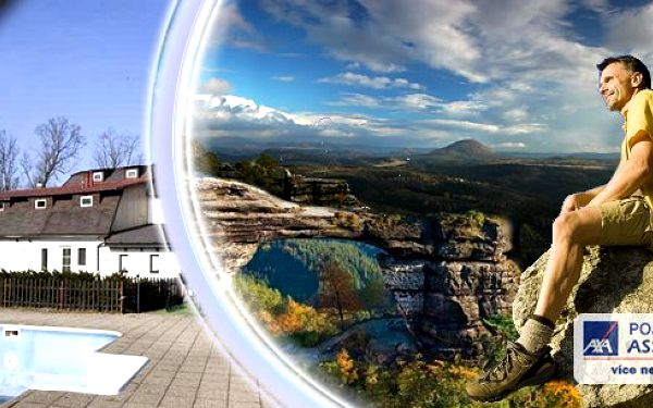 Oblíbený pobyt na rozhraní dvou kouzelných oblastí Českého Švýcarska a Lužických hor s polopenzí, bazénem, vstupem na Pravčickou bránu a dalšími aktivitami!! Již od 1330 Kč pro 2 osoby!!