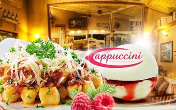 Navštivte Original Cappuccini Restaurant a vyberte si jednu ze dvou nabídek BRAMBOROVÝCH NOČKŮ, buď s vepřovou panenkou, nebo houbovým ragú, jako dezert vanilková zmrzlina s horkými malinami! Akční cena jen za 99 Kč!