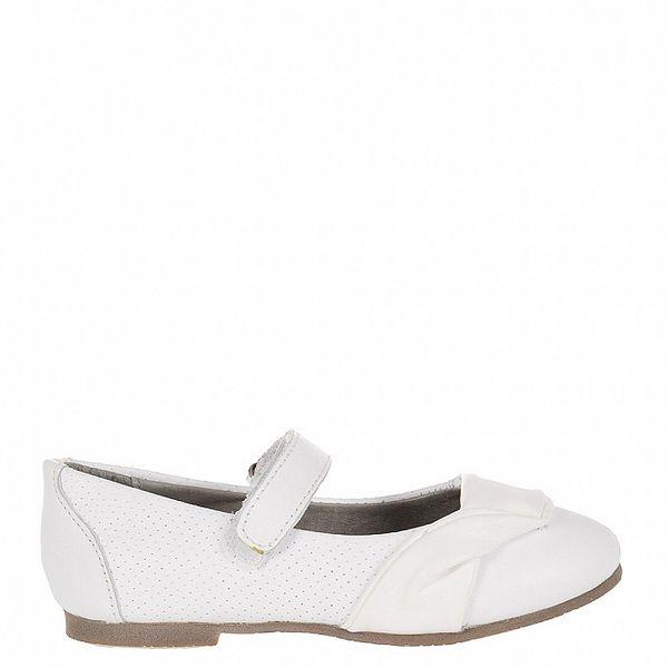 Detské biele kožené topánočky Billowy s aplikáciou
