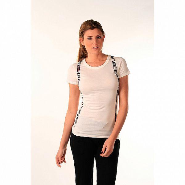 Dámske biele bavlnené tričko s potlačou trakov Beste Bat