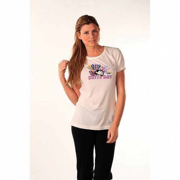 Dámske biele tričko s hudobnou potlačou Beste Bat
