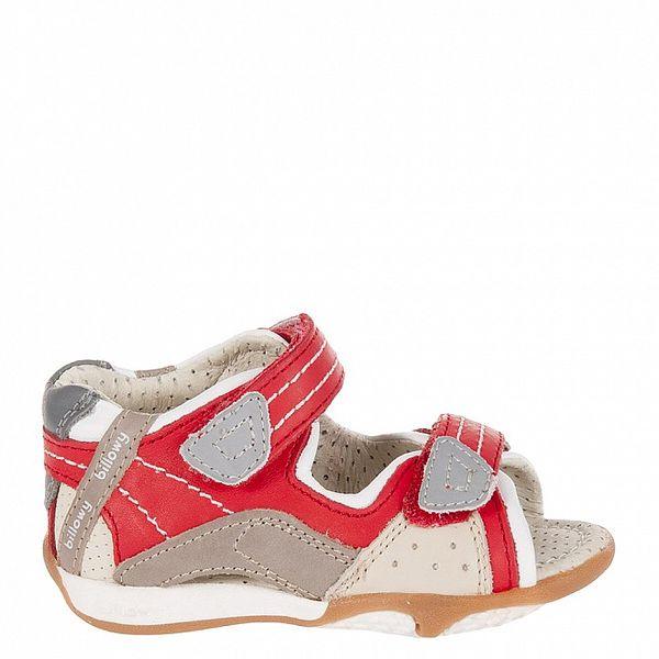 Dětské červeno-šedé sandálky Billowy