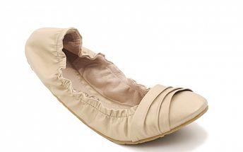 Dámské elastické baleríny Red Hot ve zlaté barvě