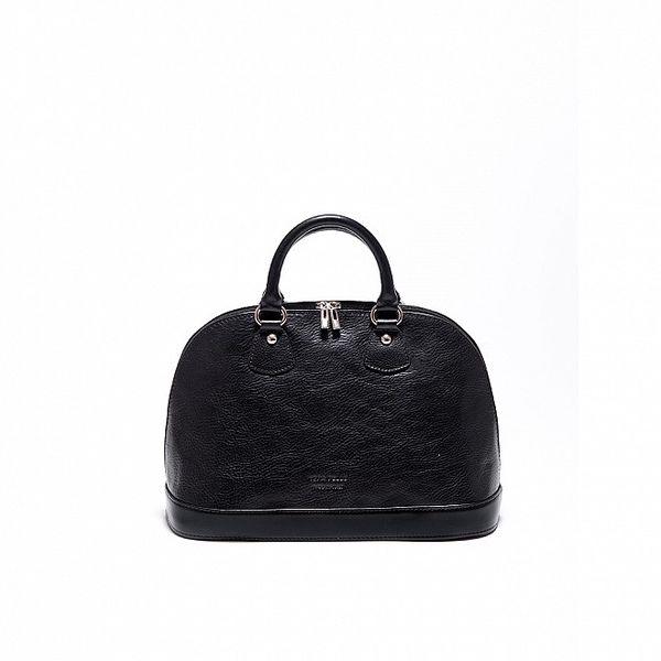 Dámska čierna kabelka s logem Carla Ferrari