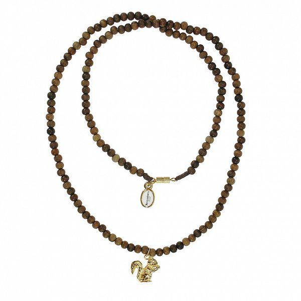 Dámský dřevěný náhrdelník Escapulario s veverkou