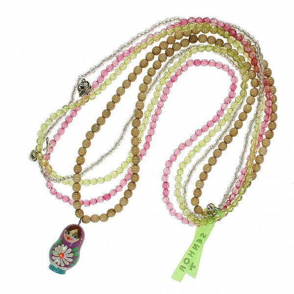 Dámský korálkový náhrdelník Escapulario s přívěskem