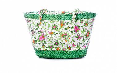 Dámsky zelený plážový košík s kvetinovým vzorom Rosalita McGee