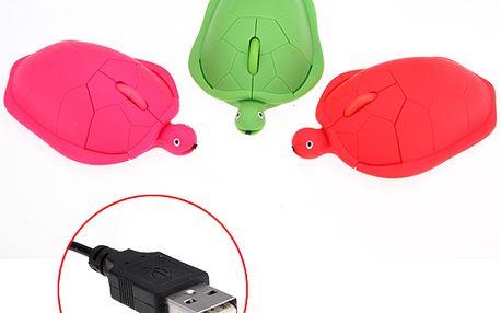 Optická myš ve tvaru želvičky - na výběr ze 3 barev a poštovné ZDARMA! - 118