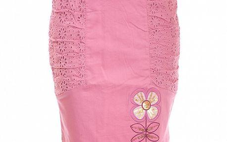 Dámska ružová čipková sukňa Rosalita McGee s kvetinovým motívom