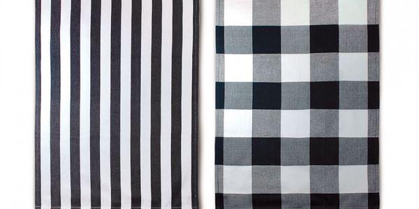 Sada utěrek, B&W. Černá a bílá. Slaďte si kuchyň do oblíbených barev.