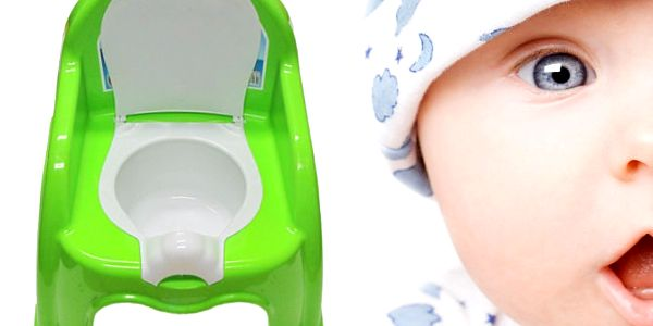 Dětská stolička s nočníkem v zelené barvě