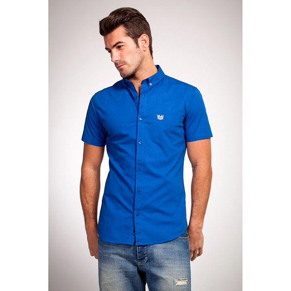 Pánska sýto modrá košeľa Bendorff
