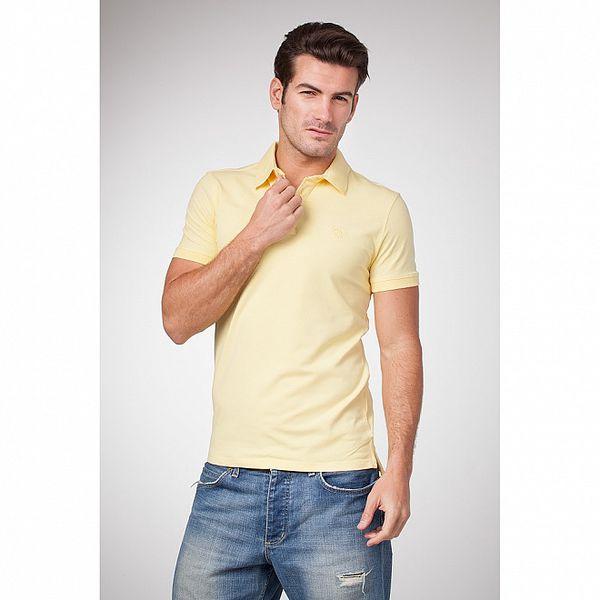 Pánske svetlo žlté bavlnené polo tričko Bendorff