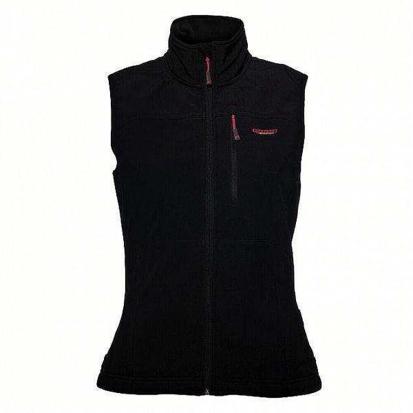 Dámská černá softshellová vesta Envy