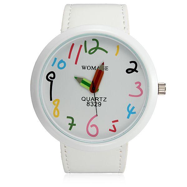 Dámské hodinky s ručičkami ve tvaru pastelek a poštovné ZDARMA! - 118