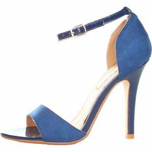 Námořnicky modré sandály s jehlovým podpatkem Ana Lublin