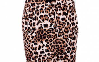 Dámska hnedá leopardia sukňa baby Phat